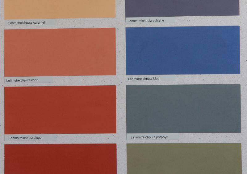 Manche Kaseinfarben (wie den Lehmstreichputz) gibt es vorgefärbt. Aber alle Kaseinfarben lassen sich auch selbst färben.